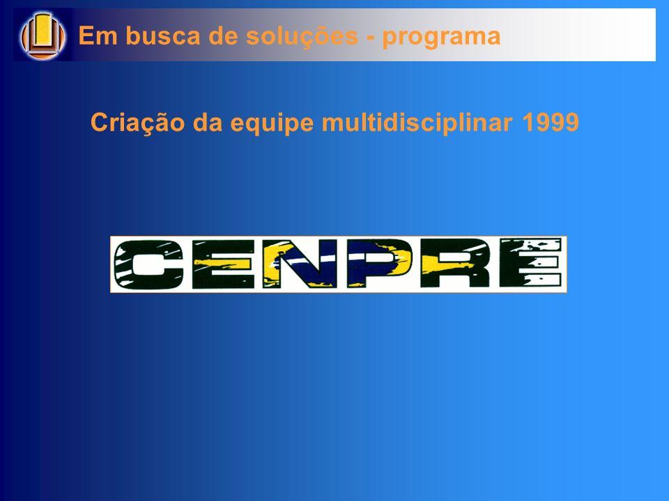 Criação da equipe multidisciplinar 1999