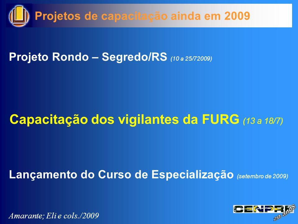 Capacitação dos vigilantes da FURG (13 a 18/7)