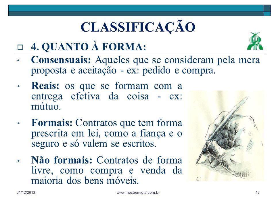 CLASSIFICAÇÃO 4. QUANTO À FORMA: