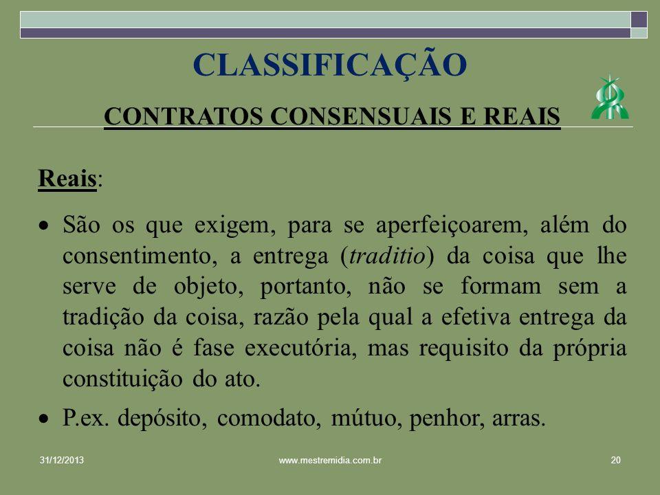 CONTRATOS CONSENSUAIS E REAIS