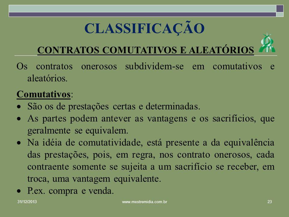 CONTRATOS COMUTATIVOS E ALEATÓRIOS
