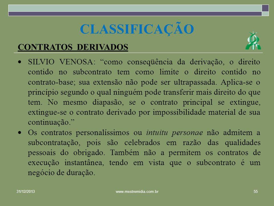CLASSIFICAÇÃO CONTRATOS DERIVADOS
