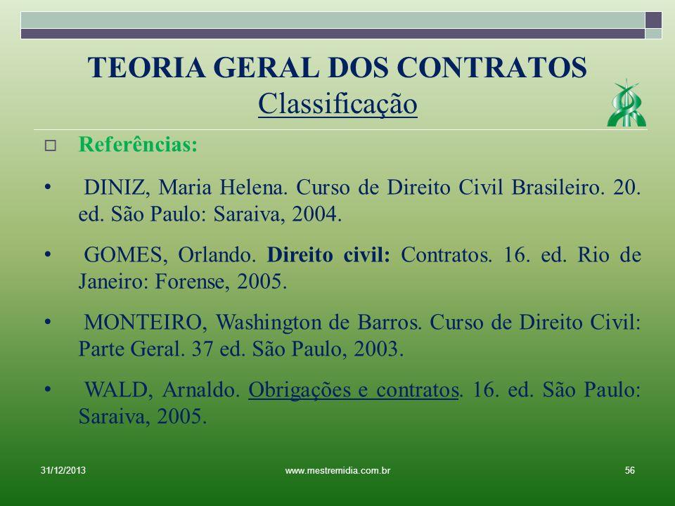 TEORIA GERAL DOS CONTRATOS Classificação