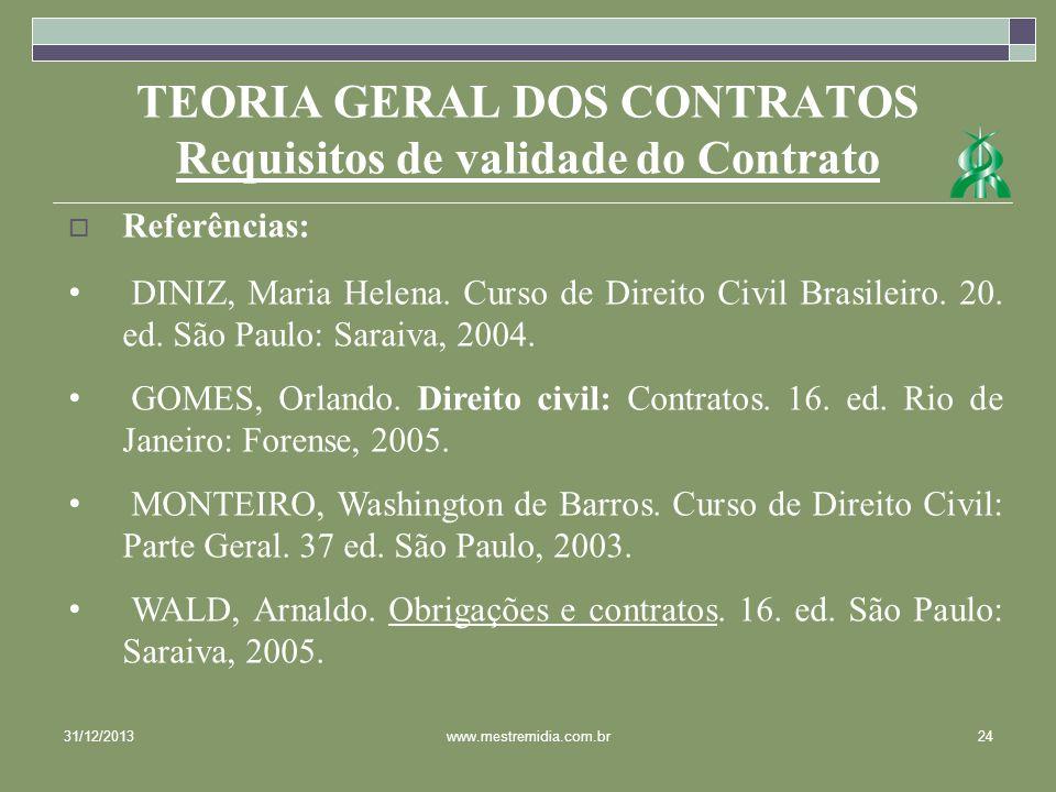 TEORIA GERAL DOS CONTRATOS Requisitos de validade do Contrato