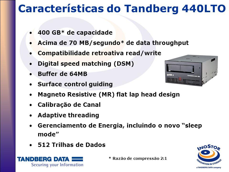Características do Tandberg 440LTO