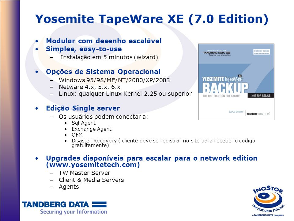 Yosemite TapeWare XE (7.0 Edition)