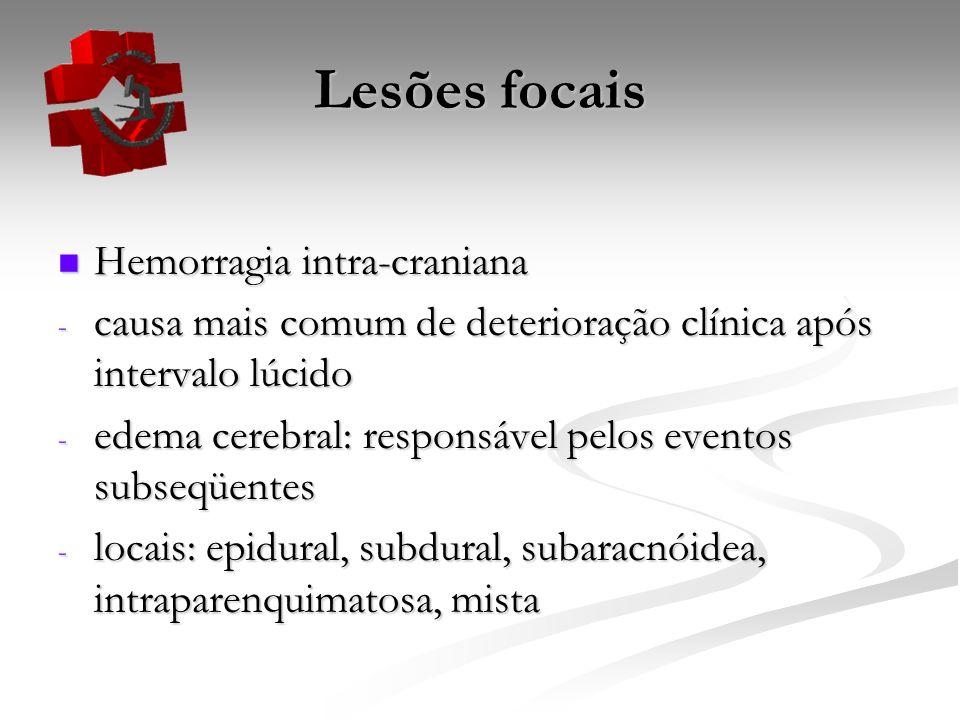 Lesões focais Hemorragia intra-craniana