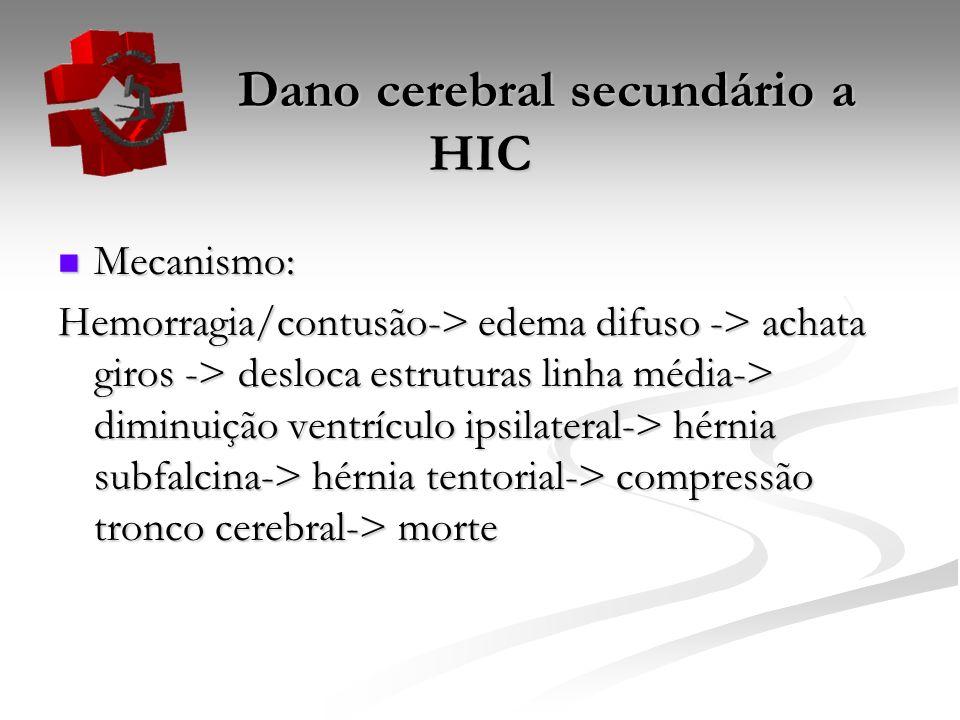 Dano cerebral secundário a HIC