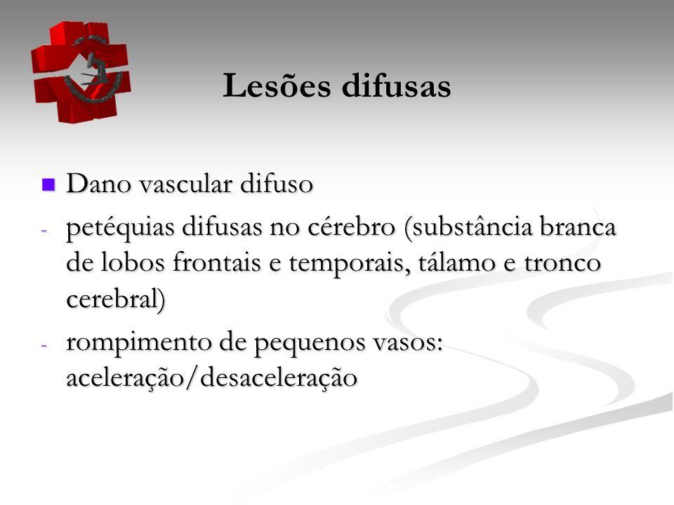 Lesões difusas Dano vascular difuso