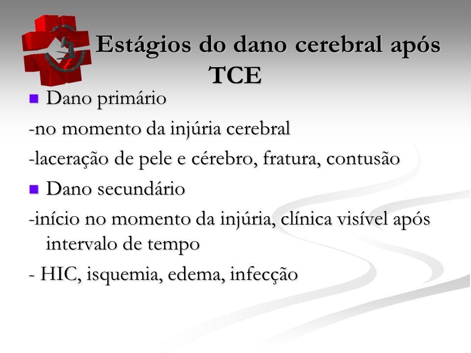 Estágios do dano cerebral após TCE