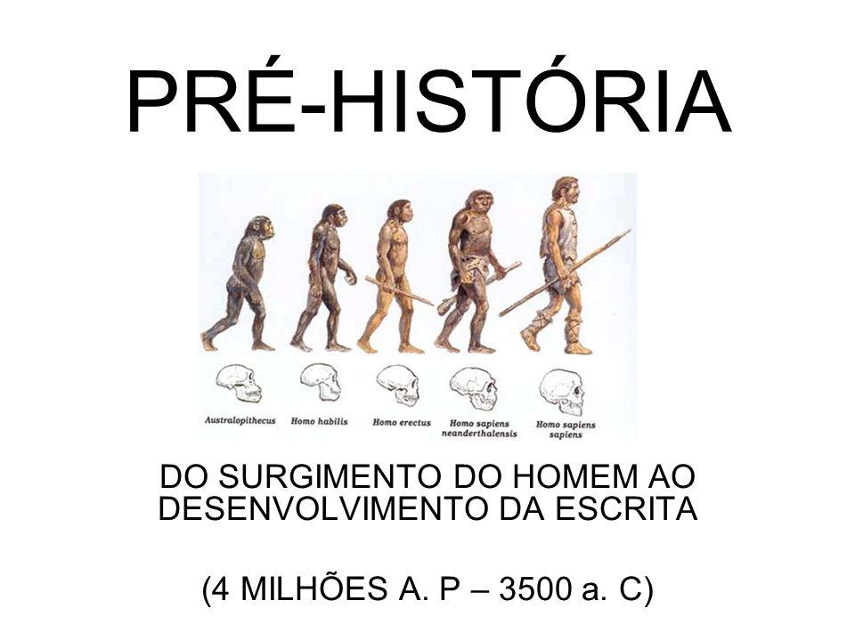 DO SURGIMENTO DO HOMEM AO DESENVOLVIMENTO DA ESCRITA