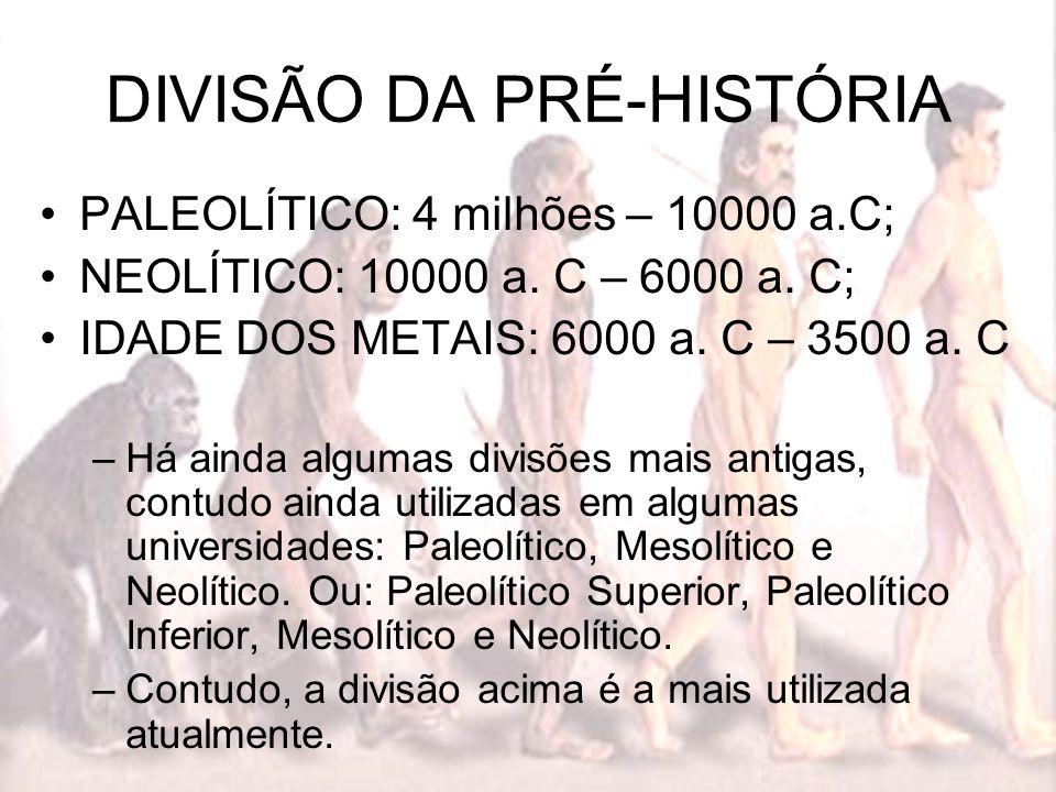 DIVISÃO DA PRÉ-HISTÓRIA