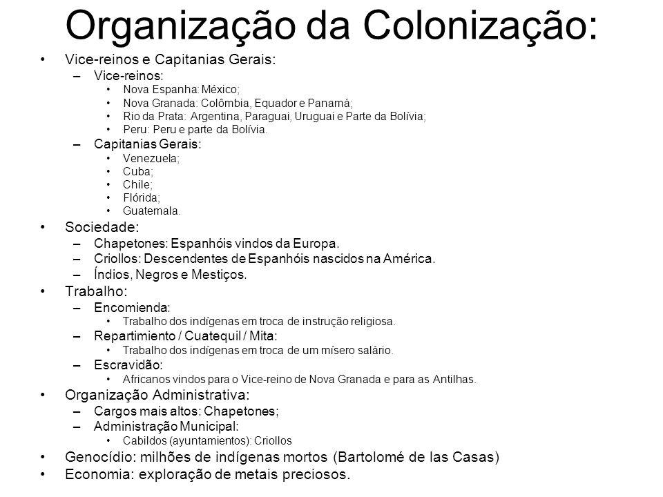 Organização da Colonização: