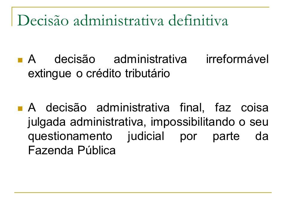 Decisão administrativa definitiva