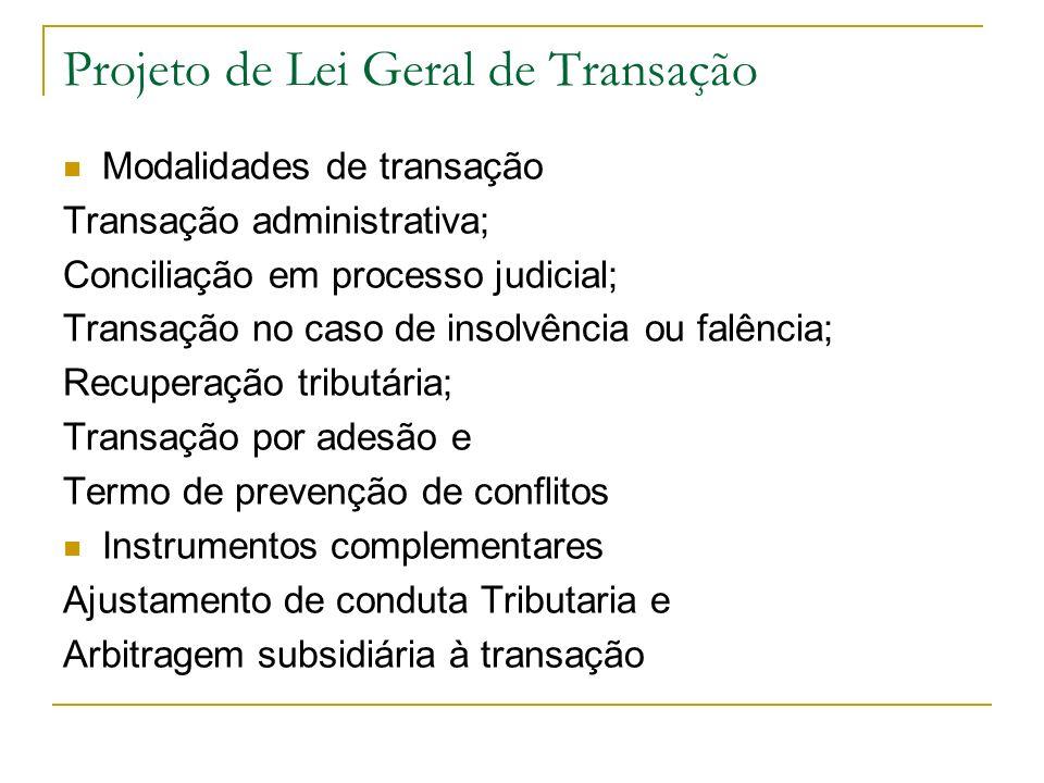Projeto de Lei Geral de Transação