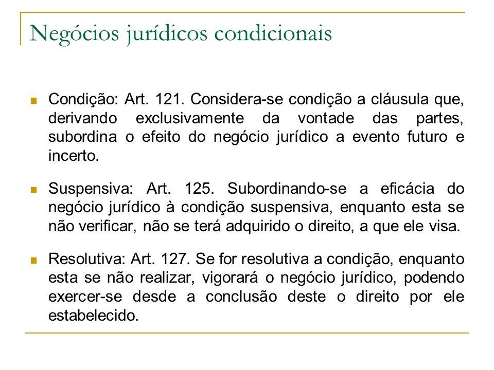 Negócios jurídicos condicionais