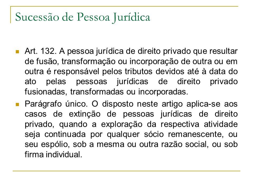Sucessão de Pessoa Jurídica