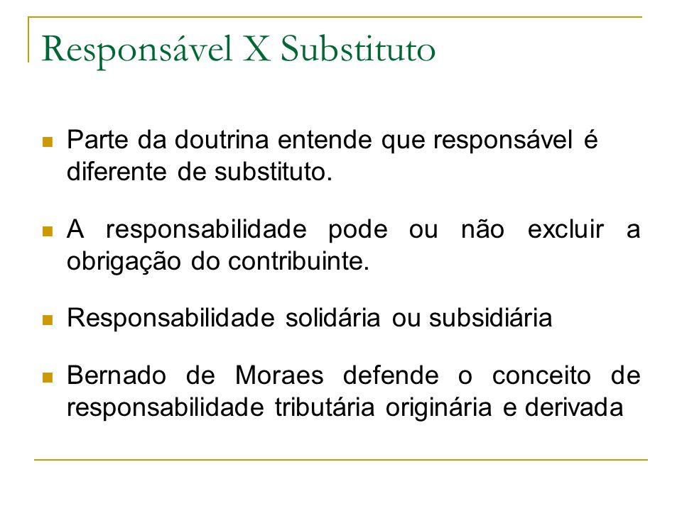 Responsável X Substituto