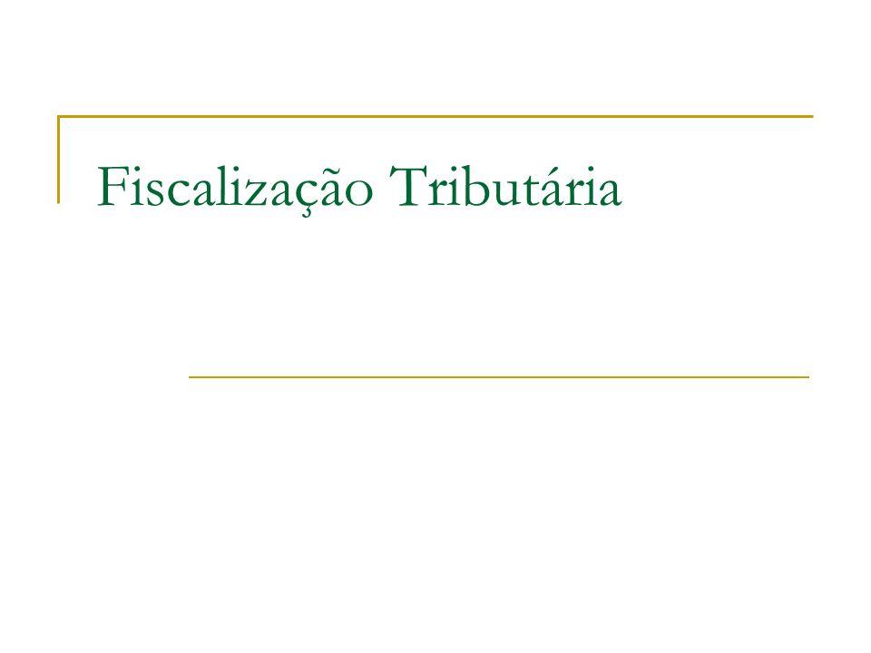 Fiscalização Tributária