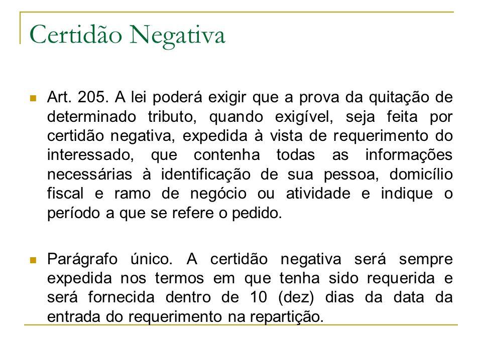 Certidão Negativa
