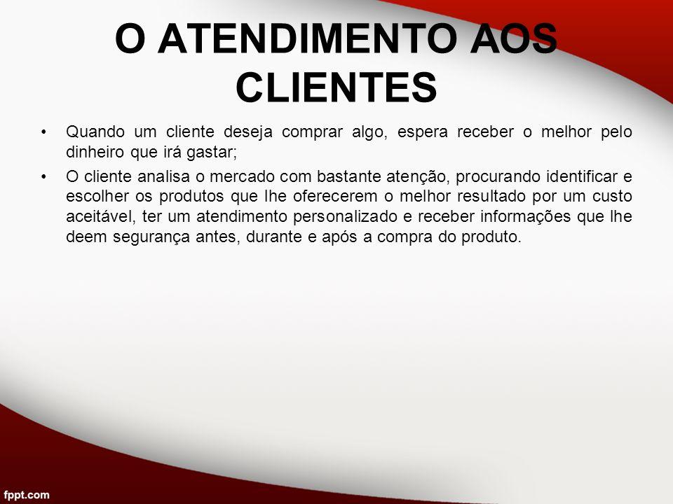 O ATENDIMENTO AOS CLIENTES
