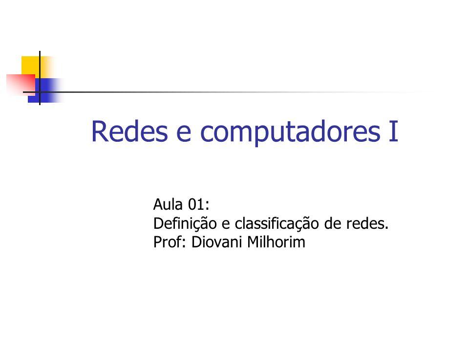 Redes e computadores I Aula 01: Definição e classificação de redes.
