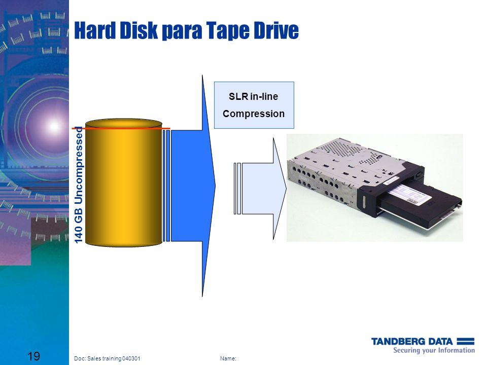 Hard Disk para Tape Drive