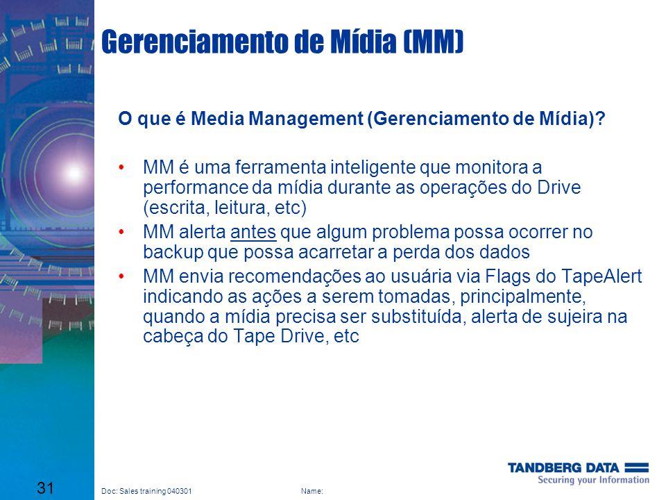 Gerenciamento de Mídia (MM)