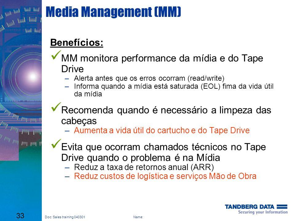 Media Management (MM) Benefícios: