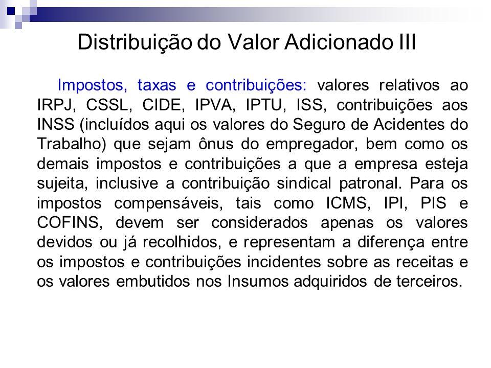 Distribuição do Valor Adicionado III