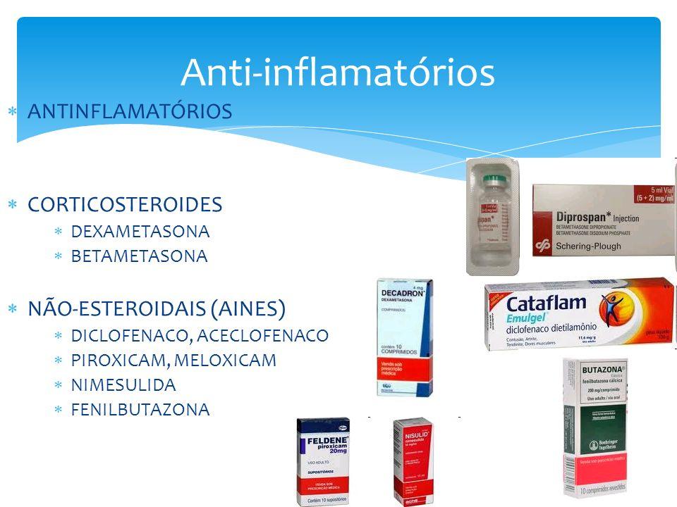 Anti-inflamatórios ANTINFLAMATÓRIOS CORTICOSTEROIDES