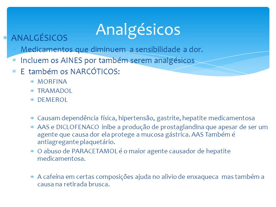 Analgésicos ANALGÉSICOS