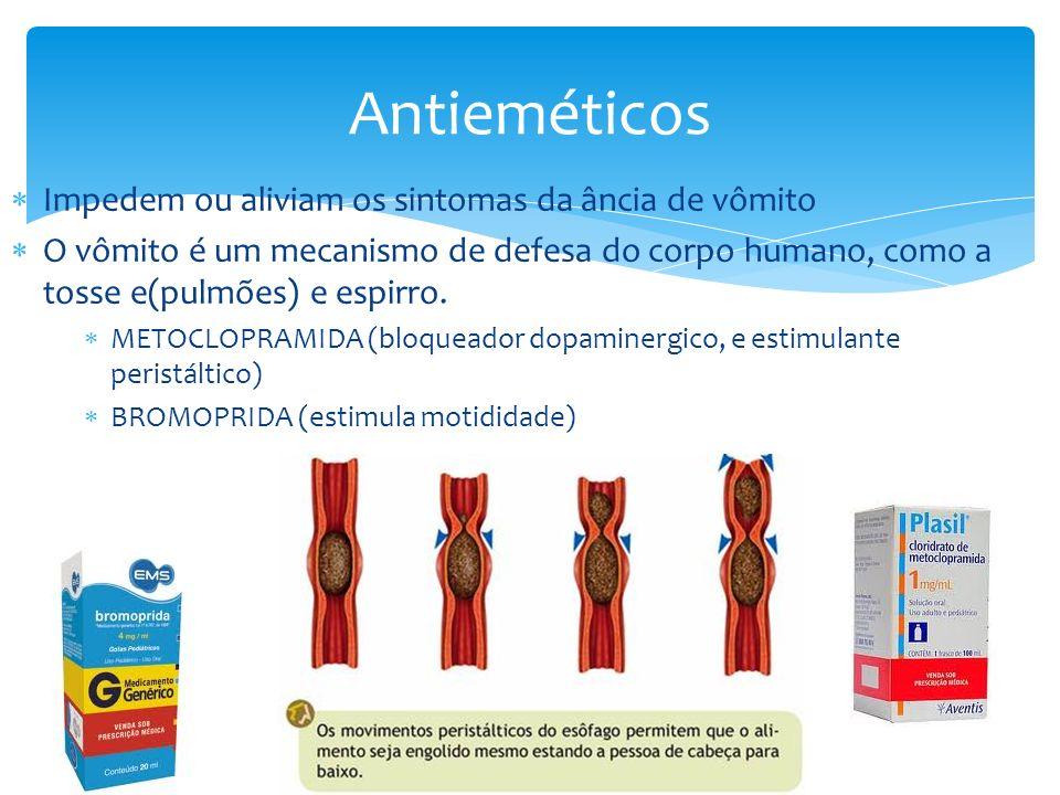 Antieméticos Impedem ou aliviam os sintomas da ância de vômito
