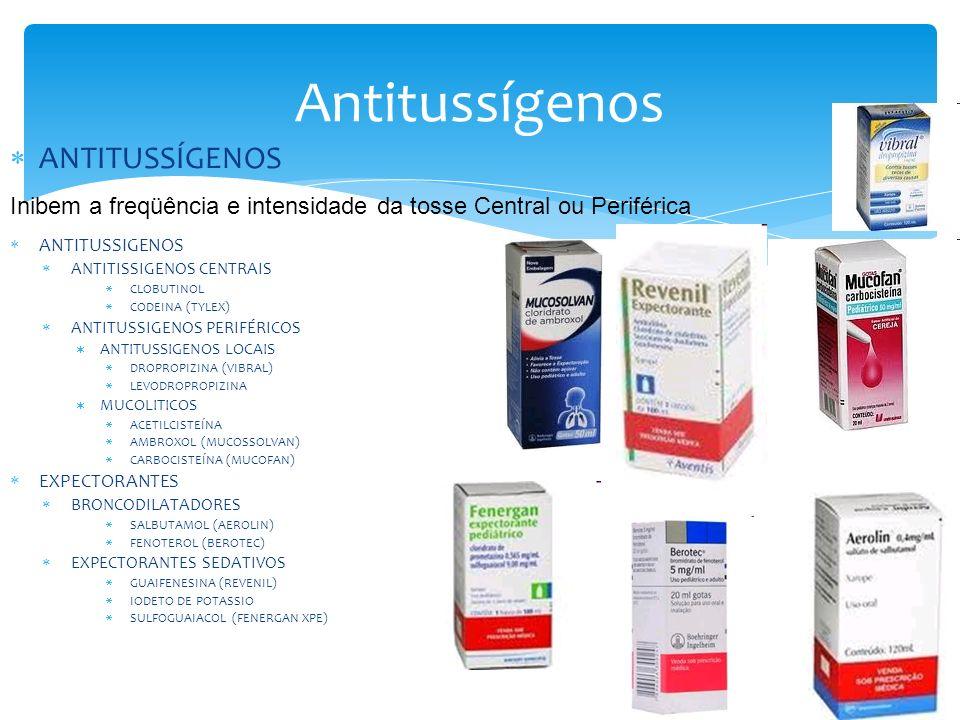 Antitussígenos ANTITUSSÍGENOS