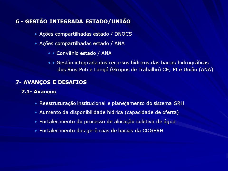 6 - GESTÃO INTEGRADA ESTADO/UNIÃO