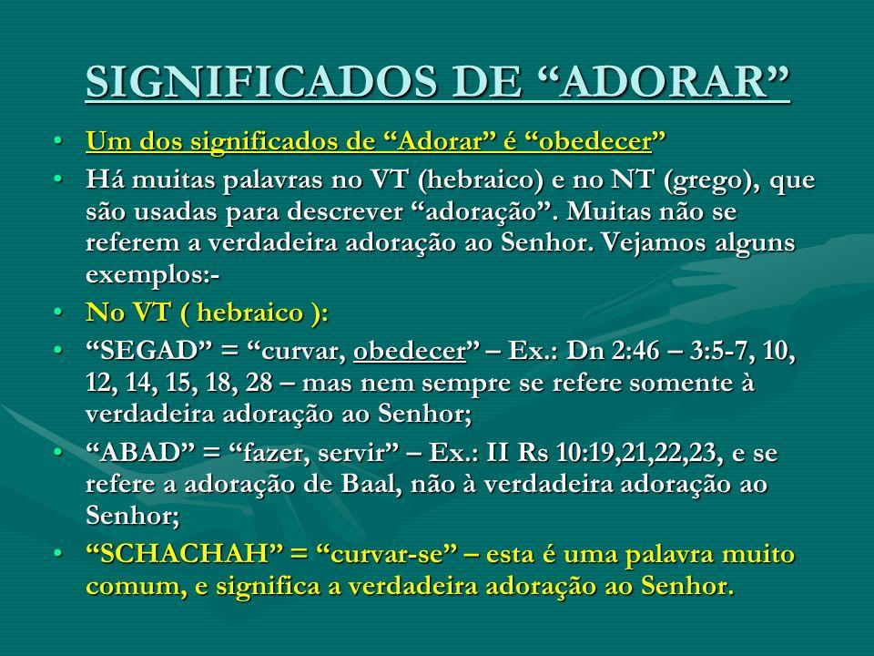 SIGNIFICADOS DE ADORAR