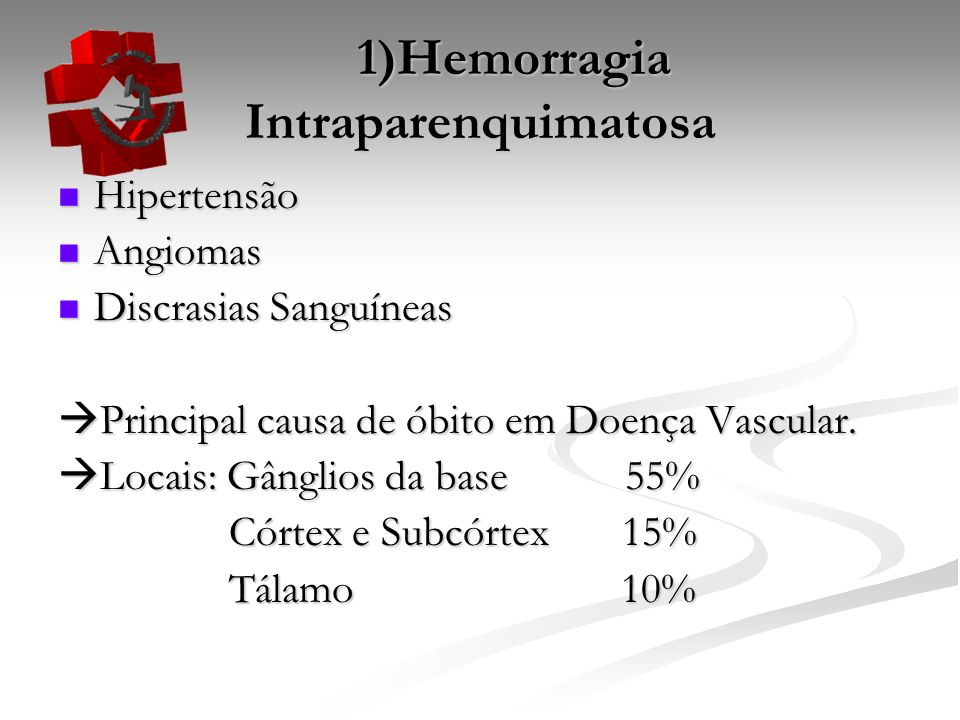 1)Hemorragia Intraparenquimatosa