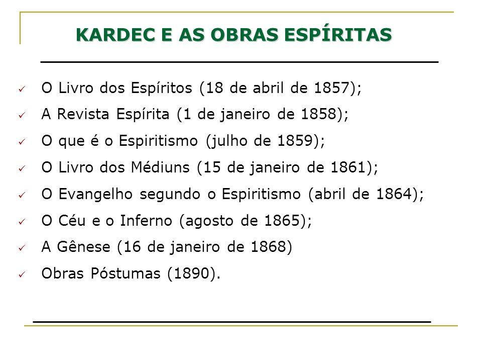 KARDEC E AS OBRAS ESPÍRITAS