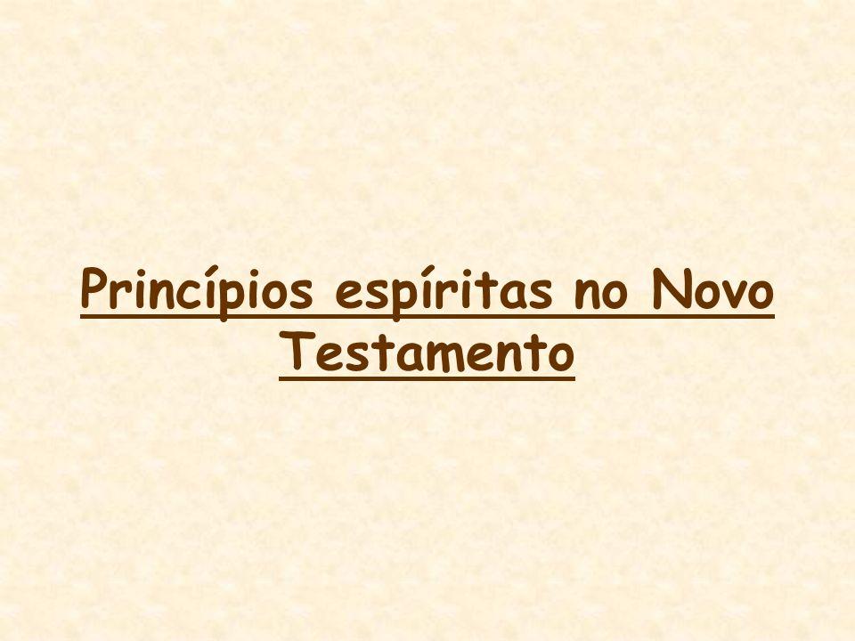 Princípios espíritas no Novo Testamento