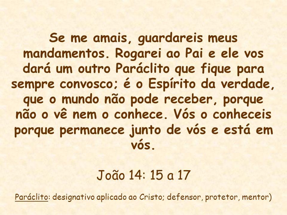 Paráclito: designativo aplicado ao Cristo; defensor, protetor, mentor)