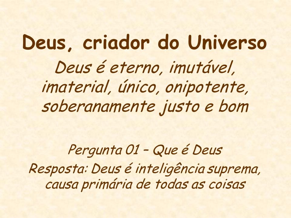 Deus, criador do Universo