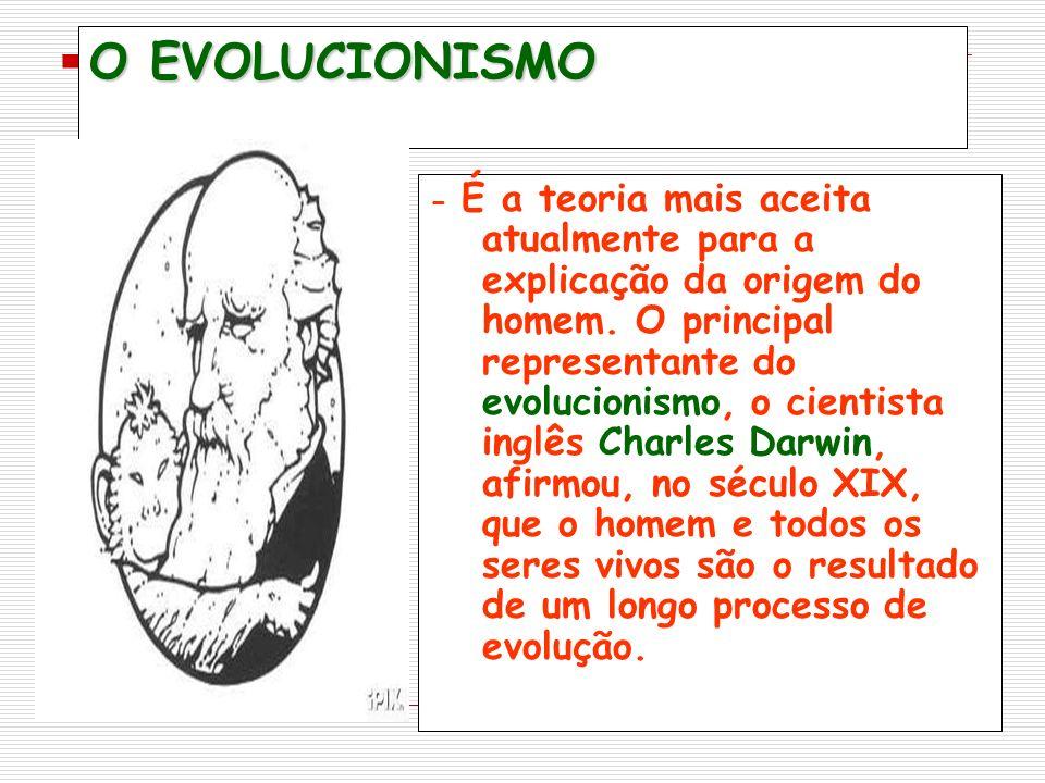 O EVOLUCIONISMO