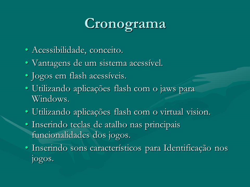 Cronograma Acessibilidade, conceito.