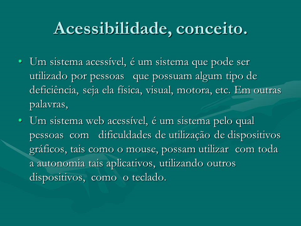 Acessibilidade, conceito.