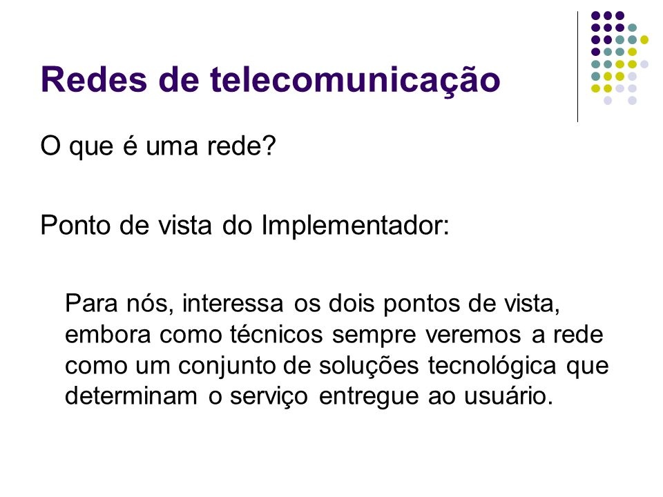 Redes de telecomunicação