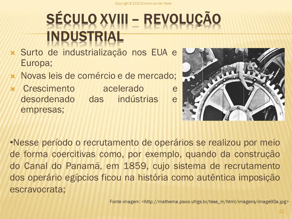 Século XVIII – Revolução Industrial