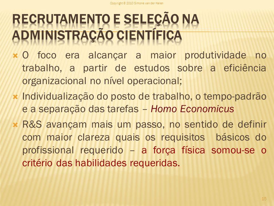 Recrutamento e Seleção na Administração Científica