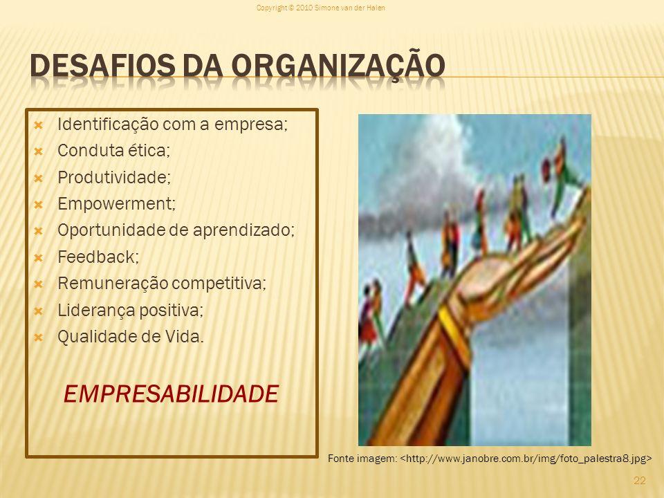 Desafios da Organização