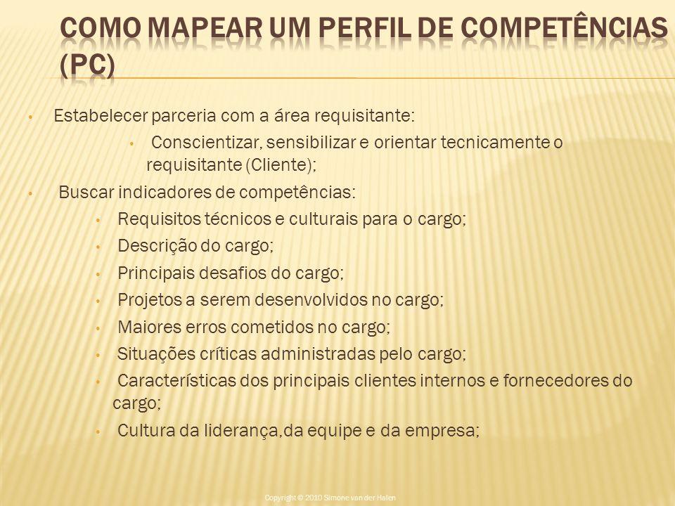 COMO MAPEAR UM PERFIL DE COMPETÊNCIAS (PC)