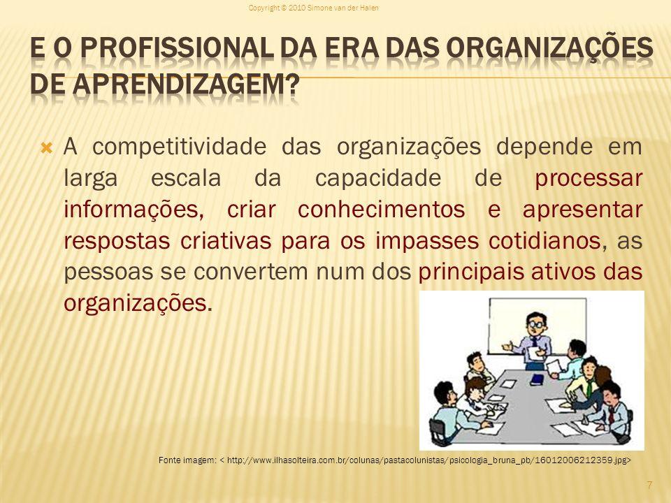 E o Profissional da era das organizações de aprendizagem